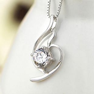 优雅柔美吊坠 925纯银项链女短款锁骨 韩版时尚 礼物 送女友